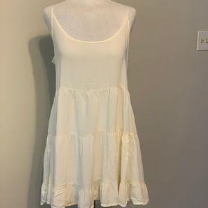 Flowy Cream Brandy Melville Dress